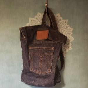 Handbags - Mini denim backpack